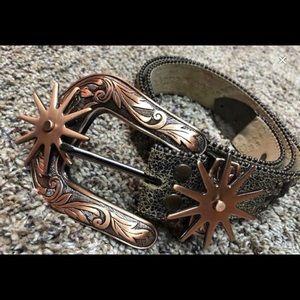 bb Simon Crystal Embellished Belt